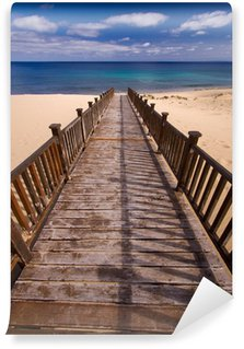 Wall Mural - Vinyl Wooden footbridge on the beach