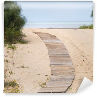 Wall Mural - Vinyl Wooden pathway to the beach