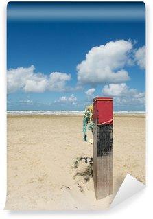 Wall Mural - Vinyl Wooden pole at the beach