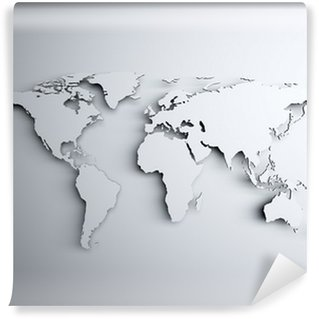 World map 3D Wall Mural - Vinyl