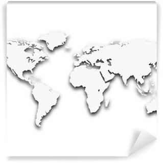 worldmap Wall Mural - Vinyl