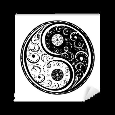 Yin yang symbol wall mural pixers we live to change for Meuble mural yin yang