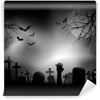 Wall Mural - Vinyl Zombie hand in graveyard