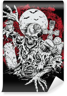 Wall Mural - Vinyl Zombie Rising From Grave