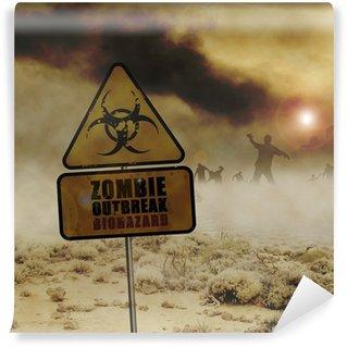 Wall Mural - Vinyl zombies desert sign