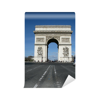 Arc de triomphe et champs elysees vinyl wall mural for Arc de triomphe wall mural