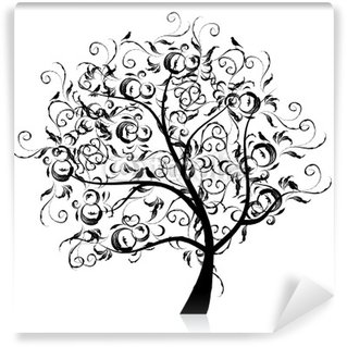 Black tree vinyl wall murals pixers we live to change for Black tree mural