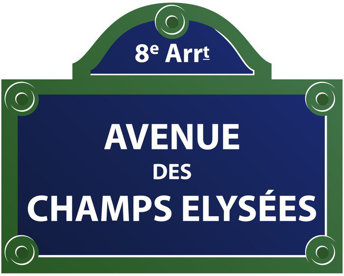 avenue des champs elys es vinyl wall mural pixers we live to change. Black Bedroom Furniture Sets. Home Design Ideas