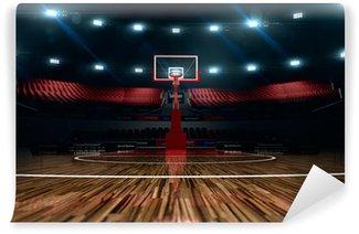 Basketball court vinyl wall murals pixers we live for Basketball court wall mural