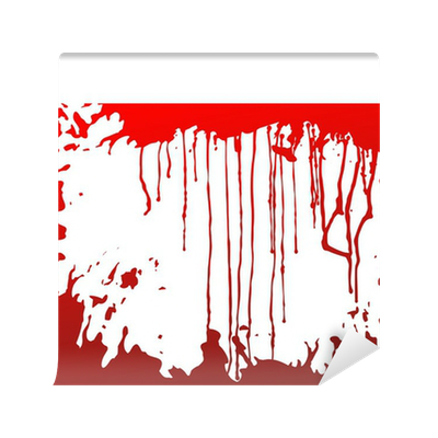 Blood background vinyl wall mural pixers we live to for Bloody wall mural