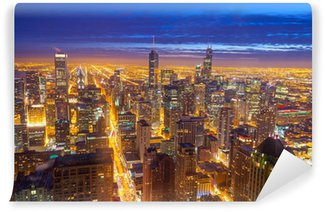 Sears vinyl wall murals pixers we live to change for Chicago skyline wall mural