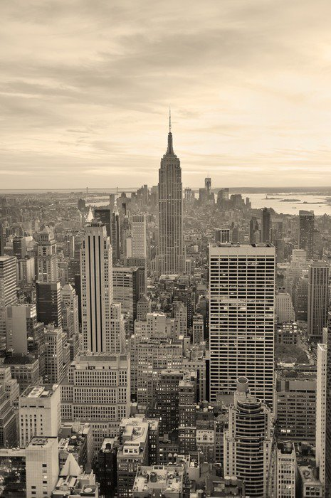 Empire state building vinyl wall mural pixers we live for Empire state building mural