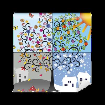 Four seasons vinyl wall mural pixers we live to change for 4 seasons mural