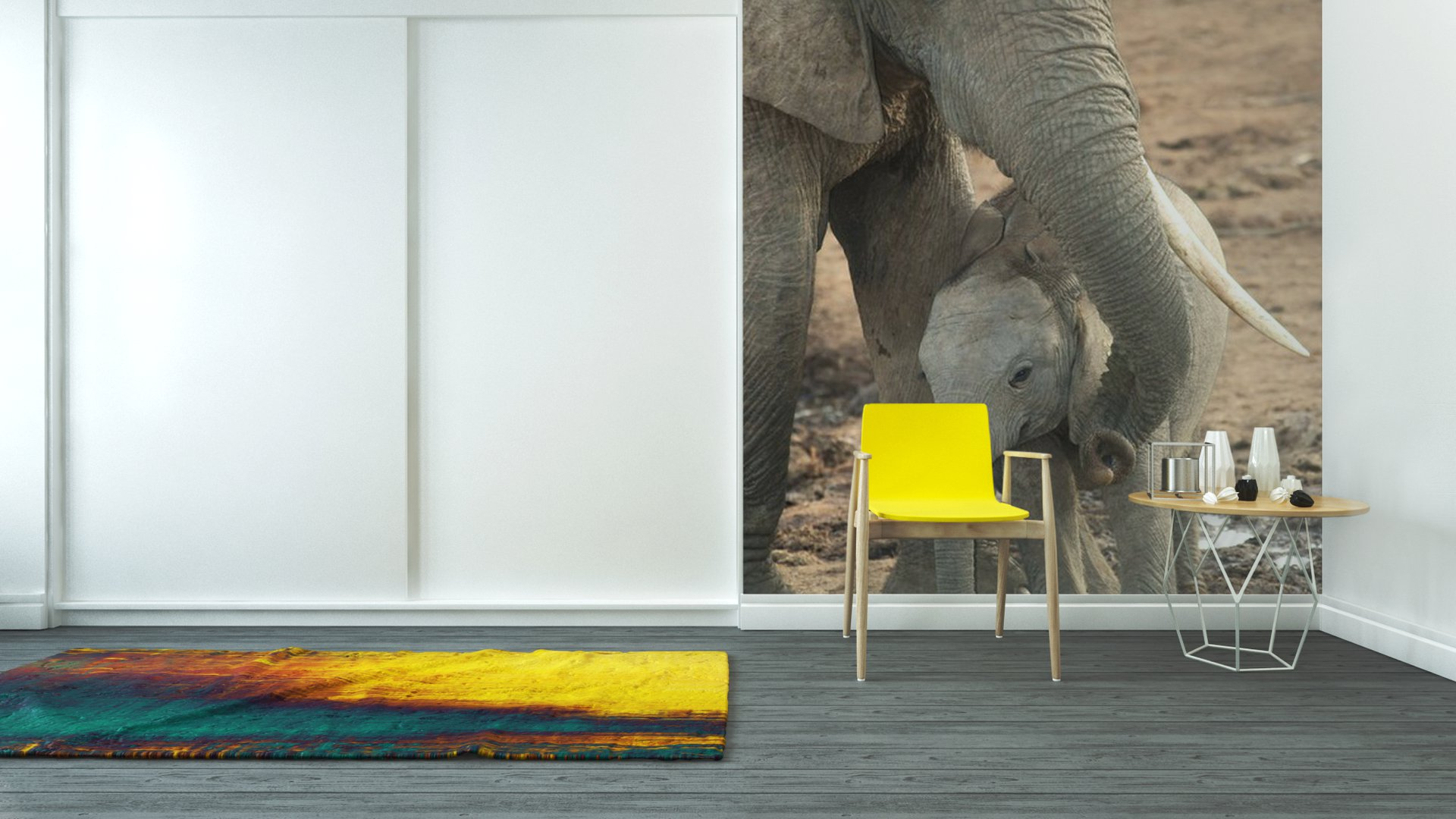 Vinyl wall mural baby african elephant pixersize com for African wall mural