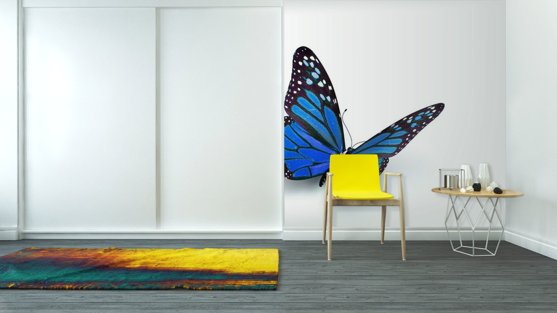 Butterfly vinyl wall mural pixers we live to change for Butterfly wall mural