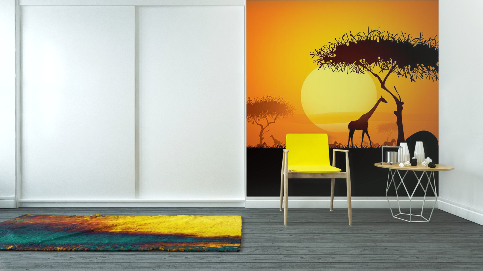 Vinyl wall mural tranquil sunset scene in africa pixers for African sunset wall mural
