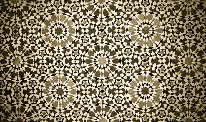 Moroccan vintage tile background vinyl wall mural pixers for Carrelage mural vintage