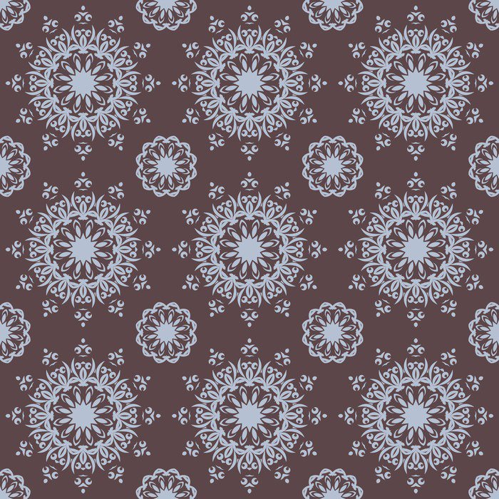 Vinyl Wall Mural Seamless Hand Drawn Mandala Pattern For Printing On Fabric Or Paper Vintage