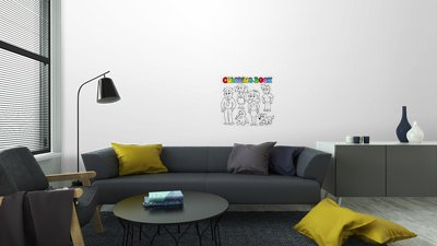Coloring book family collection 1 Vinyl Wall Mural • Pixers® • We ...