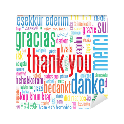 Thank you card gratitude appreciation thanks message tag for Thank you mural