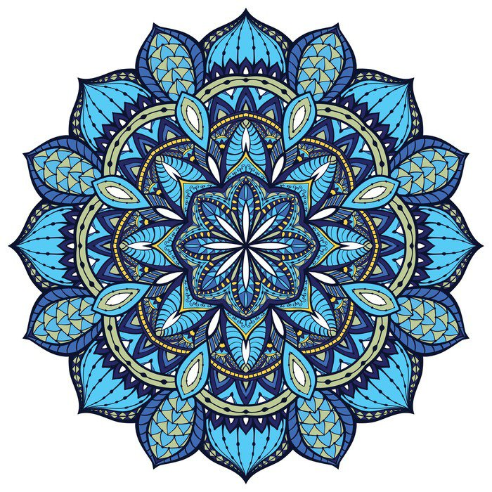 Vector elegant mandala with intricate detail vinyl wall for Mural mandala