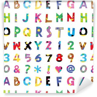 Vinyl Wallpaper アルファベット、数字