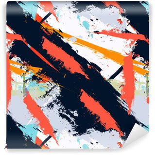 Abstract art grunge distressed seamless pattern Vinyl Wallpaper