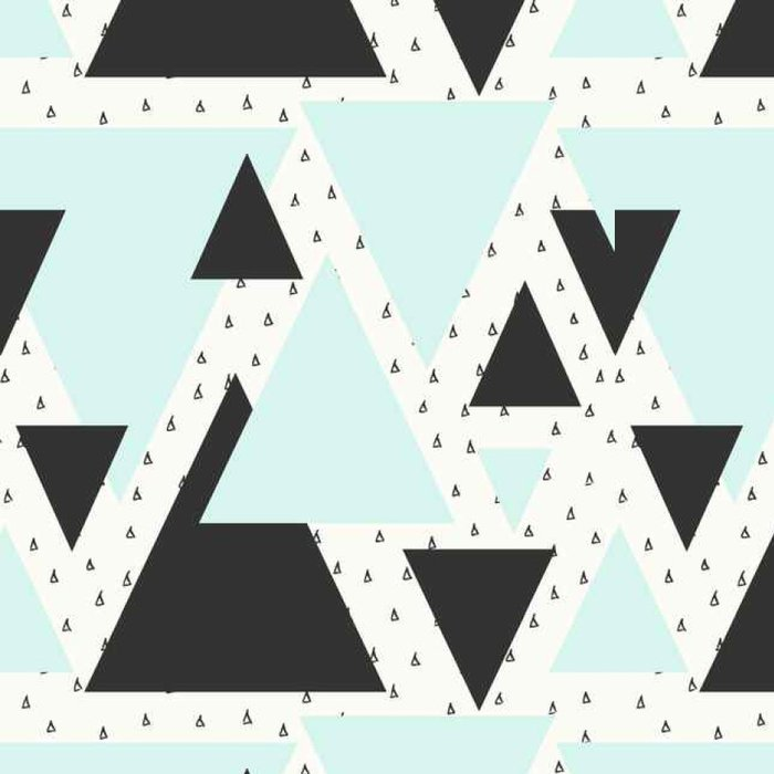 Vinyl Wallpaper Abstract Geometric Pattern - Graphic Resources