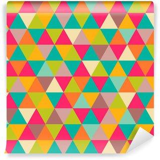 Abstract geometric triangle seamless pattern Vinyl Wallpaper