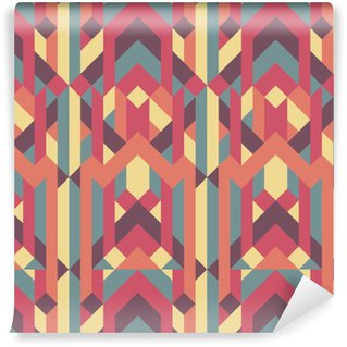abstract retro geometric pattern Vinyl Wallpaper