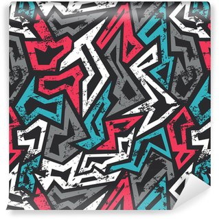 colored graffiti seamless pattern with grunge effect Vinyl Wallpaper