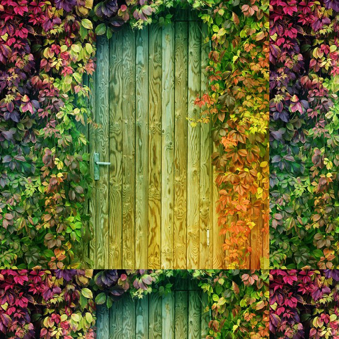 Vinyl Wallpaper colorful door entrance - Wonders of Nature