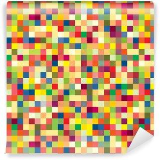 Colorful pixel pattern Vinyl Wallpaper