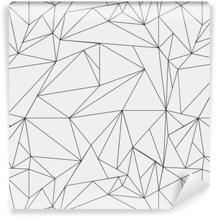 Geometric simple black and white minimalistic pattern, triangles or stained-glass window. Can be used as wallpaper, background or texture. Vinyl Wallpaper