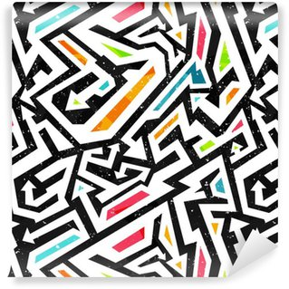 Vinyl Wallpaper graffiti seamless pattern
