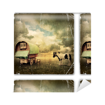 Gypsy Wagon, Caravan Wallpaper • Pixers® • We live to change