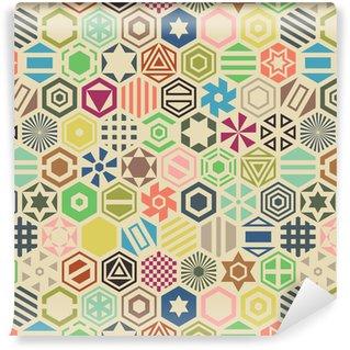 Hexagon seamless pattern. Vinyl Wallpaper