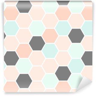 Hexagon Seamless Pattern Vinyl Wallpaper