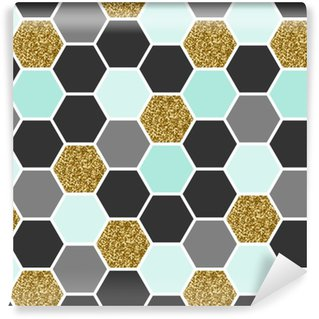 Vinyl Wallpaper Hexagon Seamless Pattern