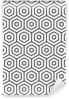 Vinyl Wallpaper Hexagons texture. Seamless geometric pattern.