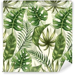 Leaves pattern Vinyl Wallpaper