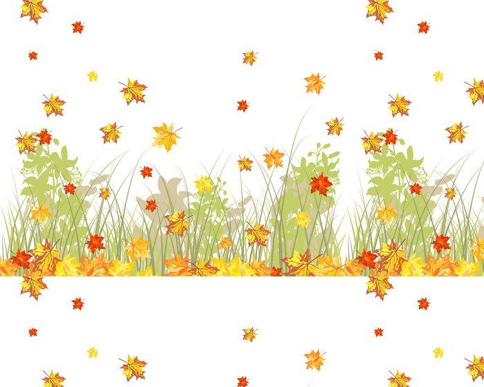 Vinyl Wallpaper Meadow autumn background - Seasons