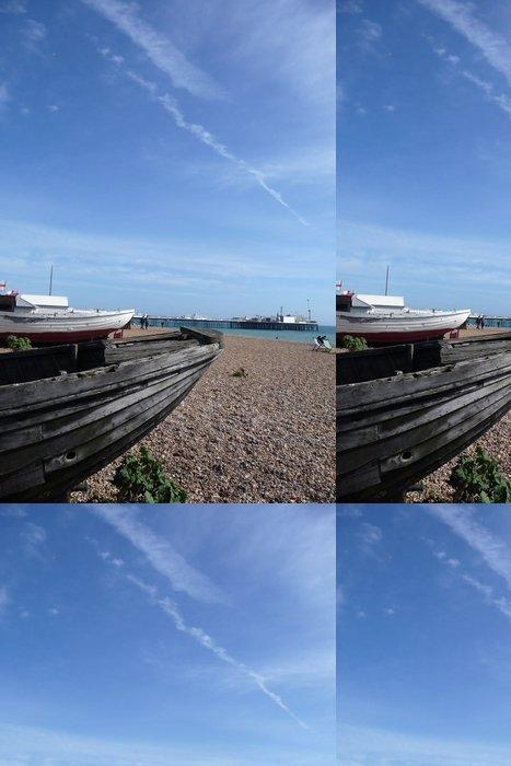 Vinyl Wallpaper Old Boat In Brighton - Skies