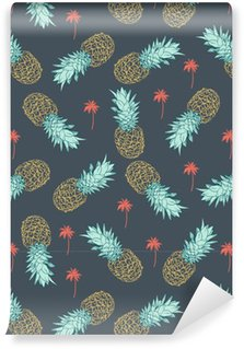 Pineapple seamless Pattern Vinyl Wallpaper