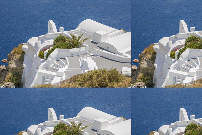 Vinyl Wallpaper Santorini Oia village terasse by the sea - Europe