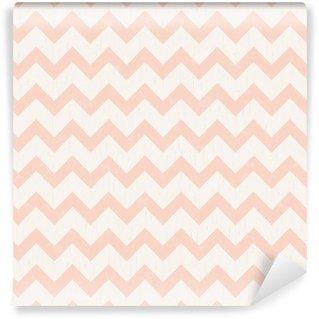 Vinyl Wallpaper seamless chevron pink pattern