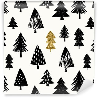 Seamless Christmas Pattern Vinyl Wallpaper