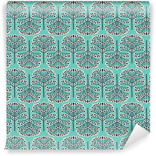 Seamless forest pattern Vinyl Wallpaper