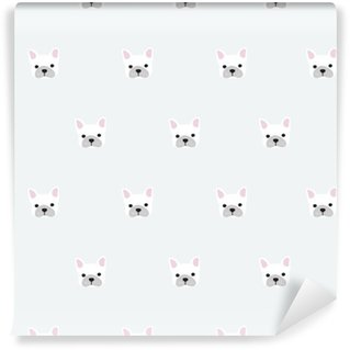 Vinyl Wallpaper seamless french bulldog pattern