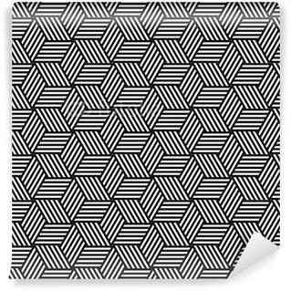 Seamless geometric pattern in op art design. Vinyl Wallpaper